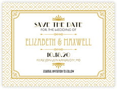 Gatsby save the date cards