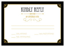 Gatsby wedding response cards
