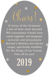 Golden Honor oval text labels