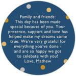 Golden Honor circle text labels