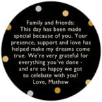 Golden Honor circle text label