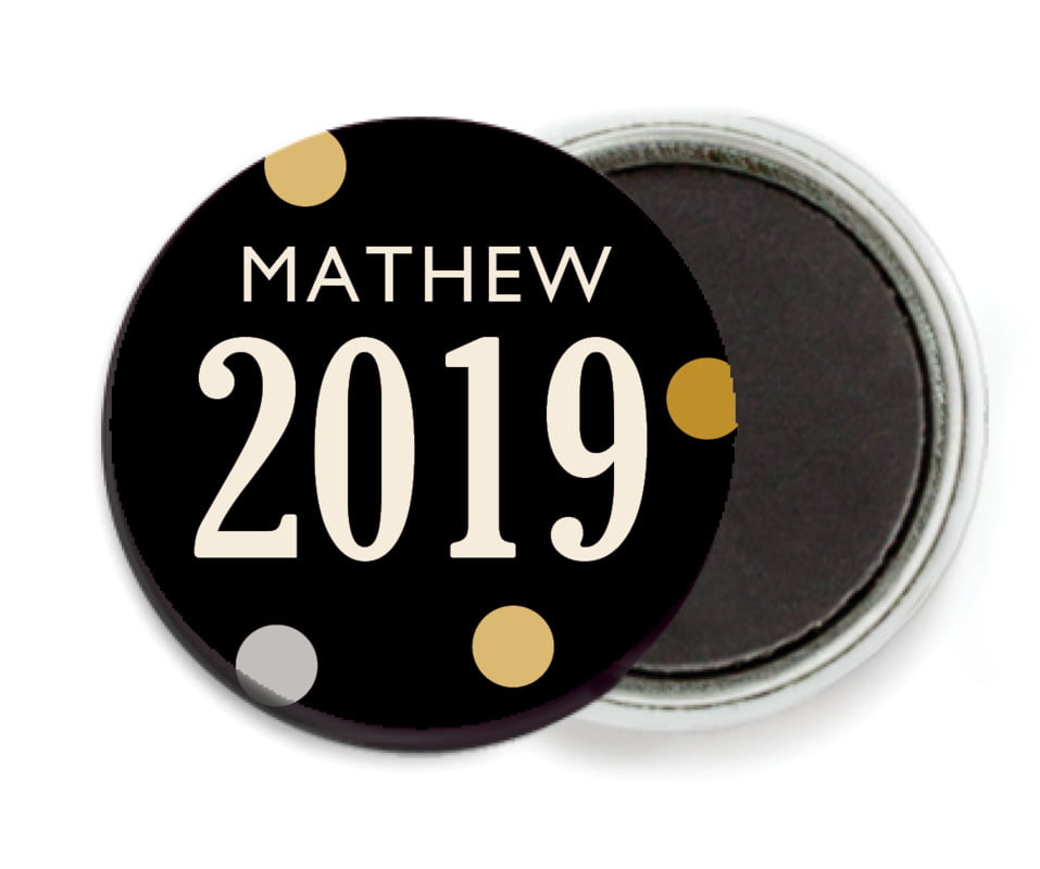 custom button magnets - tuxedo - golden honor (set of 6)