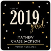 Golden Honor graduation coasters