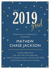 Golden Honor Card In Navy