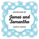 Gingham fancy square tags