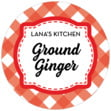 Gingham small round labels