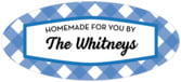 Gingham oval labels