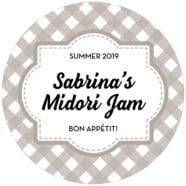 Gingham large circle labels