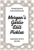 Gingham tall rectangle labels