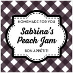 Gingham square labels