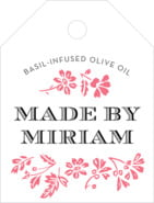 Garden Romance small luggage tags