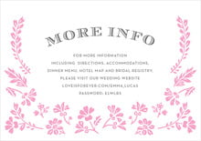 custom enclosure cards - pink - garden romance (set of 10)