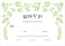 custom response cards - lime - garden romance (set of 10)
