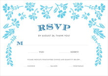 custom response cards - sky - garden romance (set of 10)