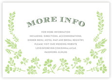 Garden Romance enclosure cards