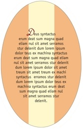 Gianni oval text labels