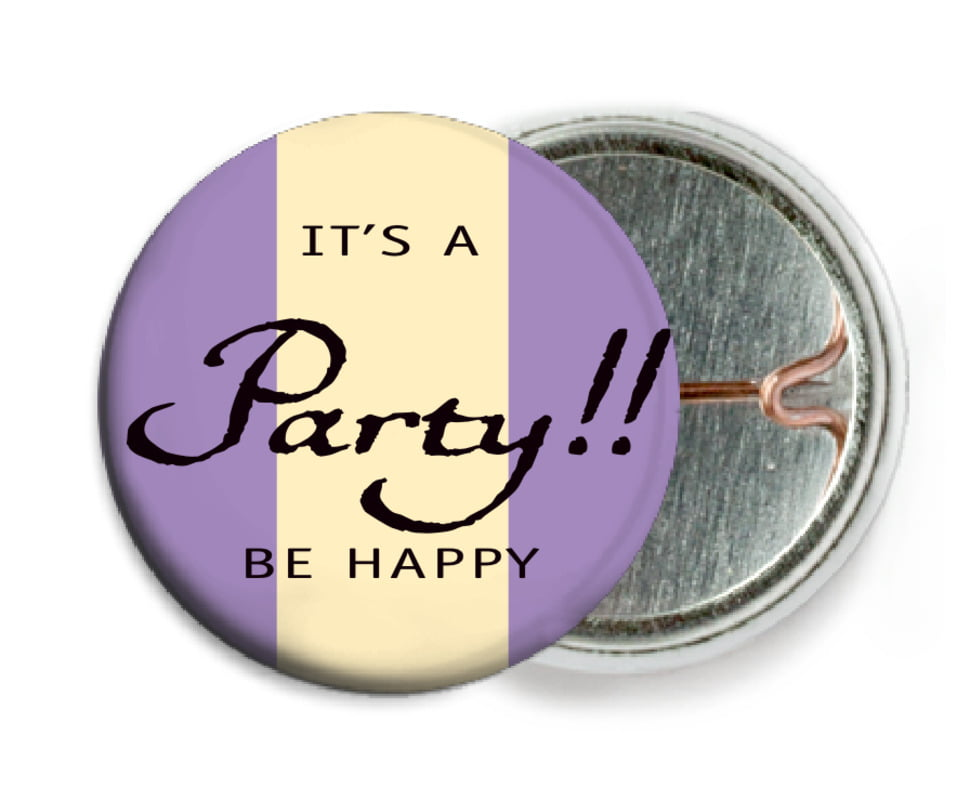 custom pin back buttons - purple - gianni (set of 6)