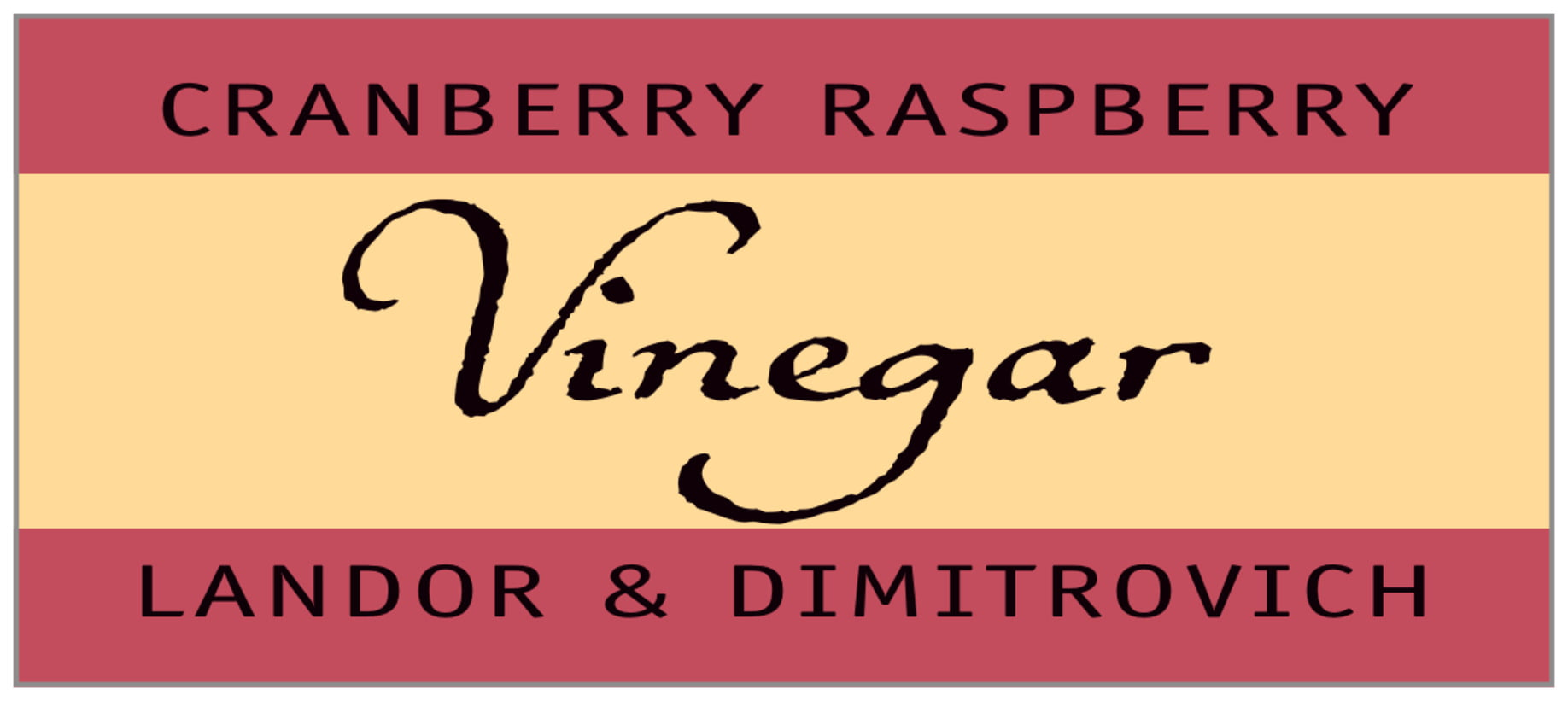 small rectangle food/craft labels - brick red & gold - gianni (set of 24)