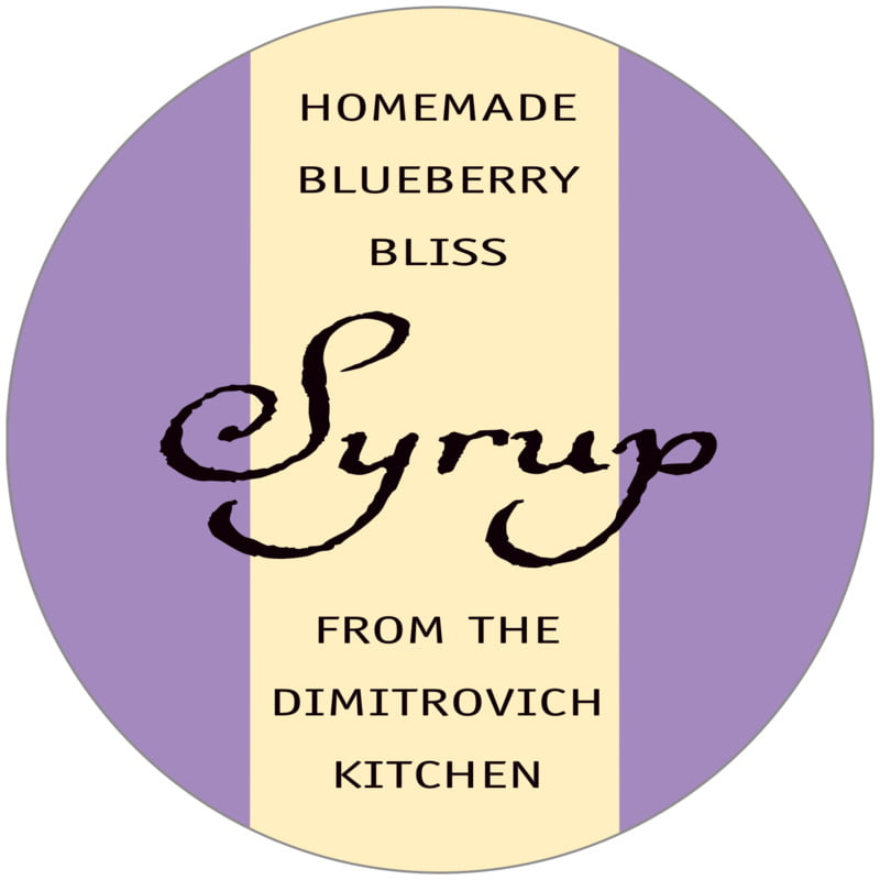 circle food/craft labels - purple - gianni (set of 12)