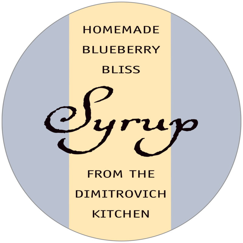 circle food/craft labels - periwinkle & gold - gianni (set of 12)