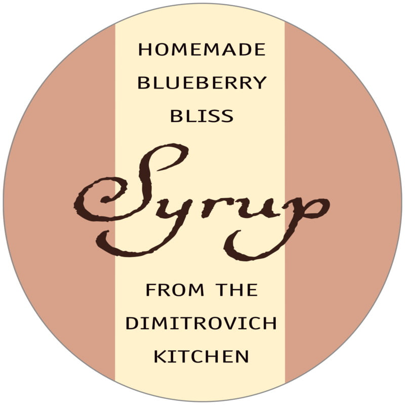 circle food/craft labels - maple & ivory - gianni (set of 12)