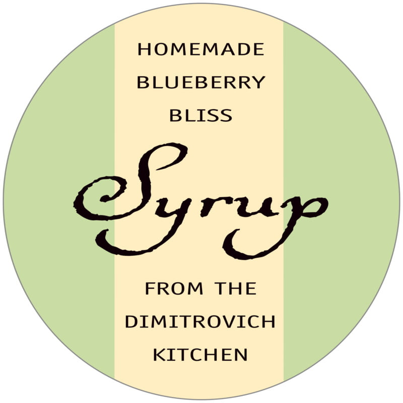 circle food/craft labels - lime & gold - gianni (set of 12)