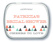 Modern Geometric bridal shower mint tins