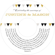 Modern Geometric Cd Label In Black & Gold