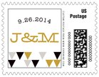 Modern Geometric small postage stamps