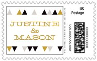 Modern Geometric large postage stamps