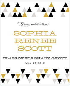Modern Geometric graduation labels