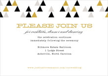 custom enclosure cards - black & gold - modern geometric (set of 10)