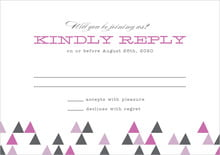 custom response cards - radiant orchid - modern geometric (set of 10)