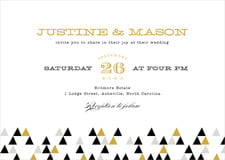 custom invitations - black & gold - modern geometric (set of 10)