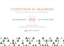 custom invitations - coral - modern geometric (set of 10)