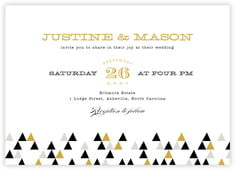 Modern Geometric invitations