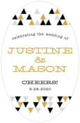 Modern Geometric wedding beer labels