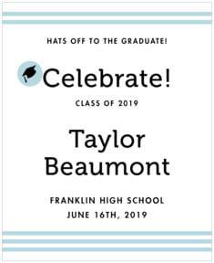 Striped Scholar graduation labels
