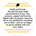 Striped Scholar circle text labels
