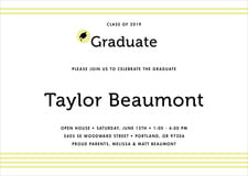 baby shower invitations - chartreuse - striped scholar (set of 10)