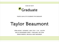 baby shower invitations - lime - striped scholar (set of 10)