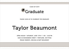 baby shower invitations - warm grey - striped scholar (set of 10)