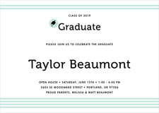 baby shower invitations - sea glass - striped scholar (set of 10)