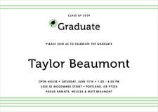 baby shower invitations - mint - striped scholar (set of 10)
