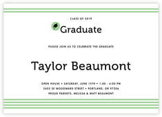 Striped Scholar Card In Light Green
