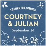 Garden Vines wedding labels