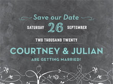 custom save-the-date cards - aruba & black - garden vines (set of 10)