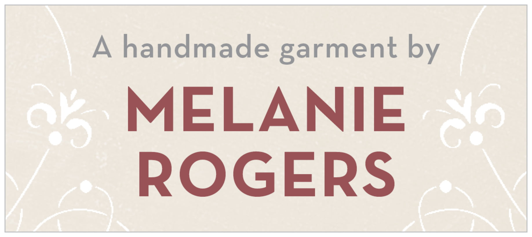 small rectangle food/craft labels - champagne & marsala - garden vines (set of 24)