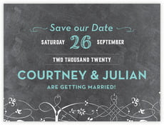 Garden Vines save the date cards