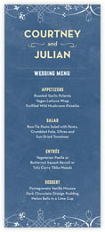 Garden Vines Menu In Navy & Yellow